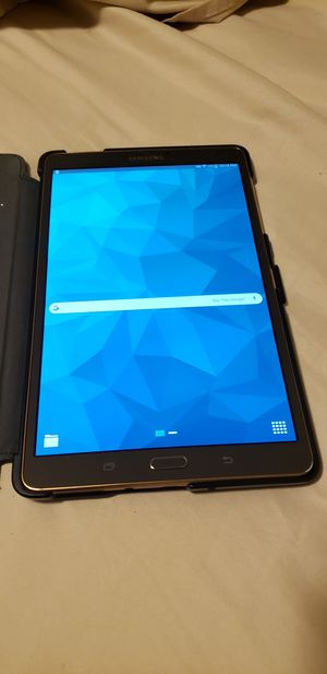 Samsung Galaxy Tab S with leather folio case for Sale in Silver Spring, MD