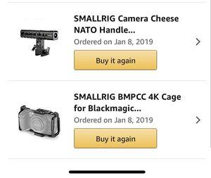 Blackmagic Pocket Cinema Camera 4k Smallrig Cage Set for Sale in Yucaipa, CA