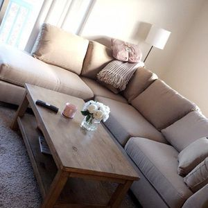 Modern beige linen sofa sectional with ottoman 104x75 ✅FINANCING AVAILABLE for Sale in North Miami Beach, FL