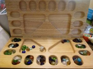 VINTAGE MANCALA WOOD BOARD GAME for Sale in Kissimmee, FL