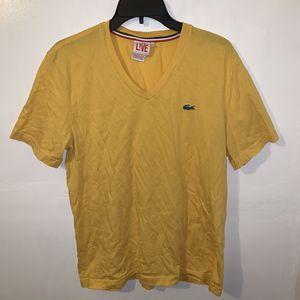Lacoste Live Men's Yellow T-Shirt Size 5 Large Shirt Tshirt. 5 for Sale in Trenton, NJ