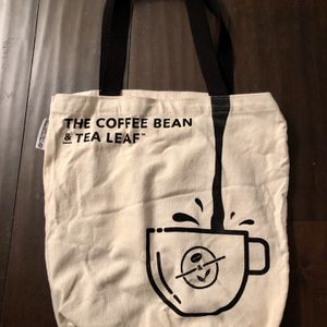 The Coffee Bean & Tea Leaf Reuseable Canvas Tote Bag— Swipe For Photos for Sale in Corona, CA