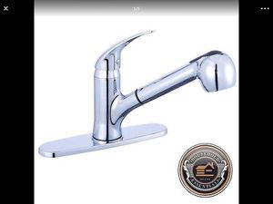Polished Chrome Single Handle Kitchen Sink Faucet Swivel Pull Out .. CHECK OUT MY PAGE FOR MORE ITEMS for Sale in Rosedale, MD