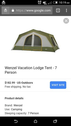 7-10 person multiple room tent . Not actual photo for Sale in Salem, AL