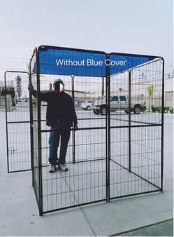 New 72 inch tall x 32 inches wide each panel x 8 panels heavy duty exercise playpen without sun shade tarp cover fence safety gate dog cage crate ken for Sale in Los Angeles,  CA