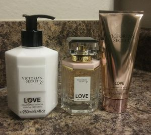 "Victoria's Secret ""Love"" Perfume, Lotion & Fragrance Wash for Sale in Cincinnati, OH"