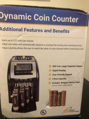 Royal Sovereign 4 Row Electric Coin Counter for Sale in Chicago, IL