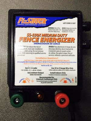 Fi shock ss-550x fence energizer for Sale in Knoxville, TN