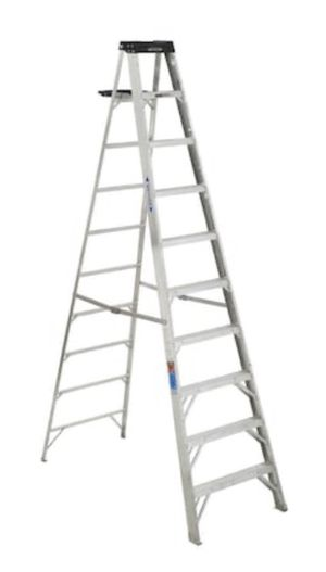 WERNER 10 ft. Aluminum Step Ladder with 300 lbs. Load Capacity Type IA Duty Rating for Sale in Grafton, MA