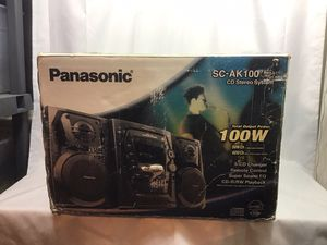 Panasonic 5-CD Compact Stereo System (SC-AK100) (Discontinued by Manufacturer)NEW for Sale in Oakland Park, FL