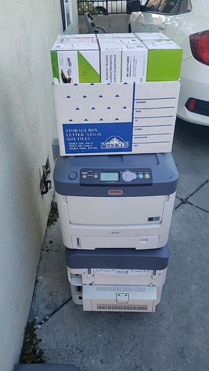 Oki color printers with cartridges free for Sale in San Fernando, CA