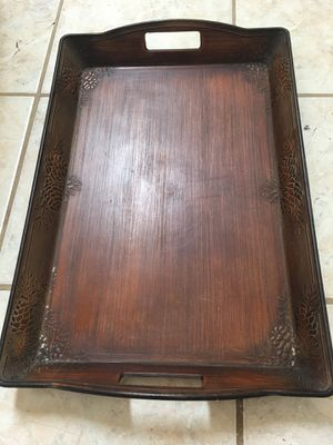 Wooden tray , kitchen, outside and inside for Sale in Richmond, VA