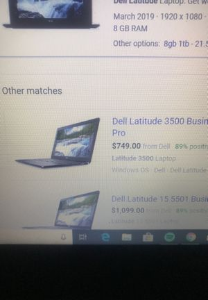 Dell latitude 3500 laptop runs super good no problems got like a week ago brand new comes with wireless mouse and charger for Sale in Meriden, CT