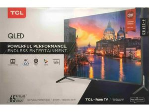"""TCL 65"""" Class 4K Ultra HD (2160p) Dolby Vision HDR Roku Smart QLED TV (65R625) for Sale in Gastonia, NC"""
