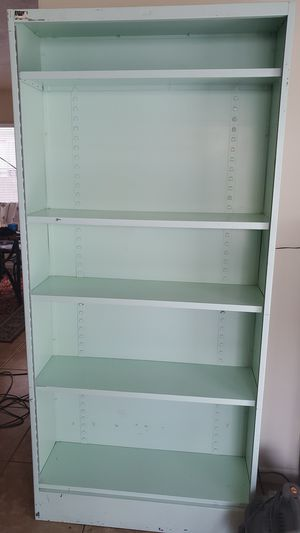 Industrial metal shelving unit, adjustable in good condition for Sale in Las Vegas, NV