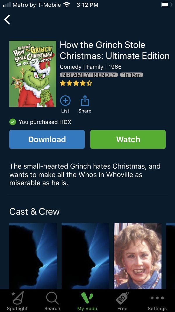 The Grinch who stole Christmas (1966) HDX STREAM