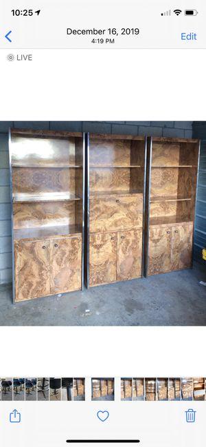 Burlwood Formica wall unit- FREE!! Take it away!! for Sale in Ocean Ridge, FL