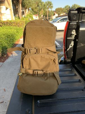 Tactical combat military backpack coyote brown for Sale in Miami, FL