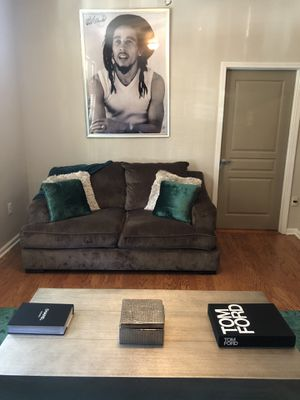 Grey Suede Couch for Sale in Atlanta, GA