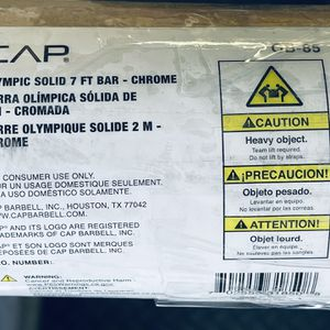 CAP 7ft, 45lb Olympic Barbell - Chrome For Sale!! for Sale in Westlake Village, CA