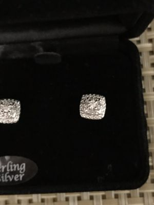 Sterling Bridge Diamond Stud Earrings for Sale in Phoenix, AZ