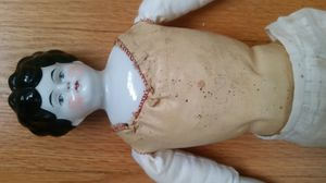 Antique Hertwig German China Porcelain Head Doll Stuffed Body for Sale in Chicago, IL