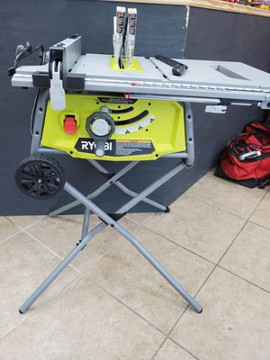 Ryobi tables saw with rolling stand like new 100$!!! for Sale in Fort Worth, TX