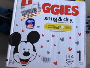 """Huggies Diaper size 1 , ct 144 """"NEVER USED"""" for Sale in San Diego, CA"""