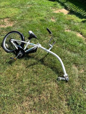 Bike trailer tag a long type bike for child to ride behind adult for Sale in PLYMOUTH MTNG, PA