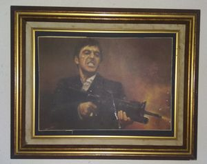 Picture of scarface in antique picture frame for Sale in Mesquite, TX