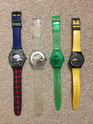 """"""" MINT CONDITION - """" VERY RARE SWATCHES!!!! ( 41 mm / 33 mm ) : SKELETON SEE THRU DIAL !!!!! ( $30 EACH !!!!!! for Sale in Orlando, FL"""