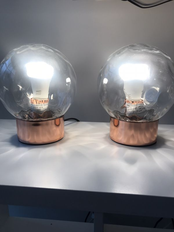 Copper lamps from Article