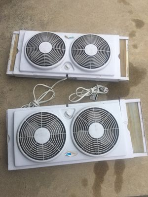 Fans. For window.s. Perfect working conditions for Sale in Pico Rivera, CA