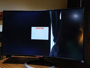 Sceptre Computer Monitor Curved for repair 37 inches for Sale in Centreville, VA