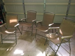 4 foldable chairs for Sale in Fontana, CA