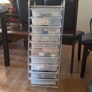 White Drawer Organizer for Sale in Covina, CA