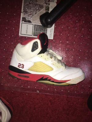 Jordan retro 5 fire reds for Sale in Fairfax, VA