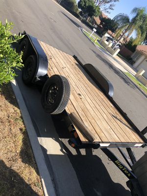 14ft big Tex trailer like new pink slip in hand for Sale in Chino, CA
