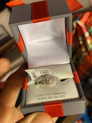 Sterling Silver Diamond Ring for Sale in Woodhull, IL