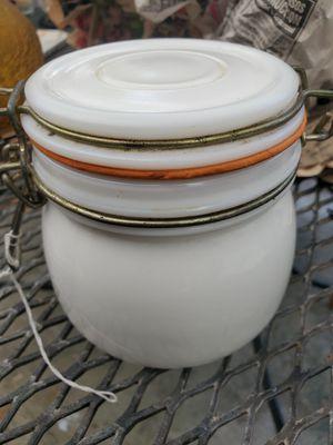 Milk glass storage jar for Sale in Homestead, FL
