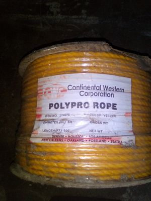 Polypro Rope - Continental Western Corporation for Sale in Hoquiam, WA