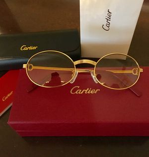 Unisex Gold Frame Cartier Glasses ! Excellent! Serious buyers only ! W/Box + Booklets ! for Sale in Washington, DC
