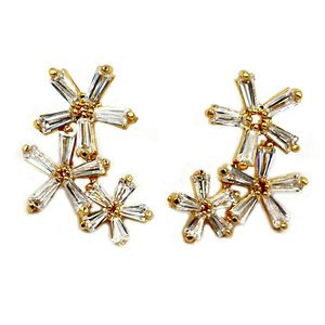 Simple gold flowers crystal earrings for Sale in Redwood City, CA