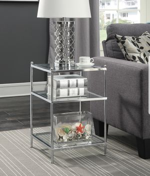 Convenience Concepts No Tools Royal Crest Chrome End Table (NEW) for Sale in Manchester, PA