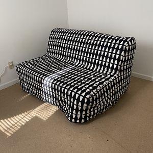 IKEA convertible couch/futon W/ B&W Cover for Sale in Atlanta, GA