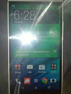 HTC One M8 Verizon/T-Mobile/MetroPCS/AT&T/Cricket Cell Phone New Without Box Clear ESN Silver Gray for Sale in Phoenix,  AZ