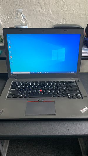 """""""LENOVO T450"""" powerful laptop Intel core (TM) i5-4600U CPU @ 2.10 GHz 2.69 GHz , 12 GB RAM,256 SSD with fully installed/ licensed Windows 10 and pack for Sale in Jersey City, NJ"""
