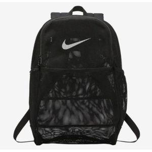 Nike Brasilia 24L Mesh Backpack Transparent Black/White BA6050-010 New for Sale in Pasadena, CA