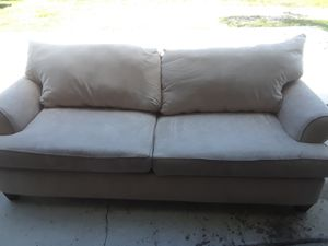 Tan cloth couch for Sale in Jupiter, FL