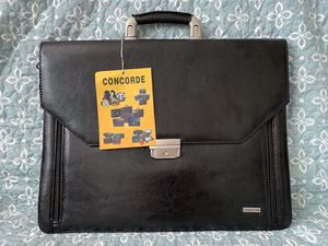 """Vintage Maroon Attache/Satchel, """"Concorde"""", Brass Hardware, Original Carrying Strap, Made in China for Sale in Portland, OR"""
